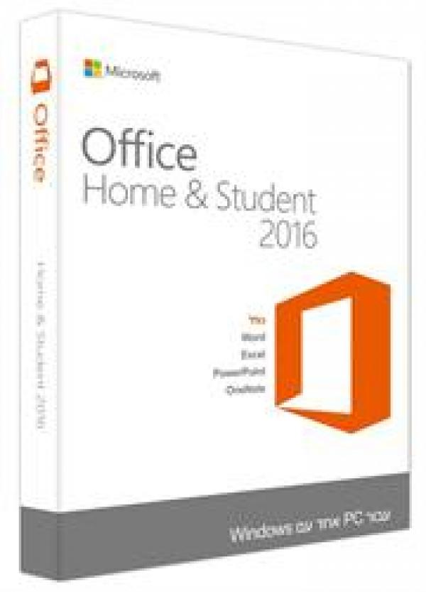 Microsoft Office Home and Student 2016 Hebrew Medialess 79G-04612 מיקרוסופט