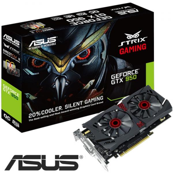 Asus Nvidia GeForce GTX 950 STRIX-GTX950-DC2OC-2GD5-GAMING 2GB GDDR5